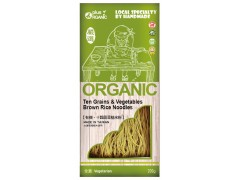 Plus Organic Organic Ten Grains & Vegetable Brown Rice Noodles